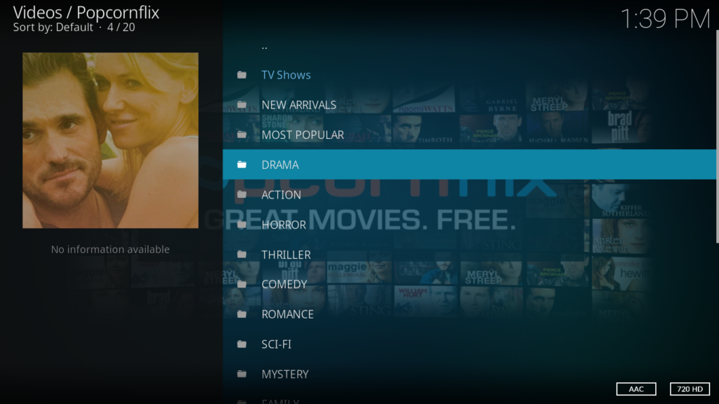 Popcornflix Kodi Addon - All Your Favorite Movies in one