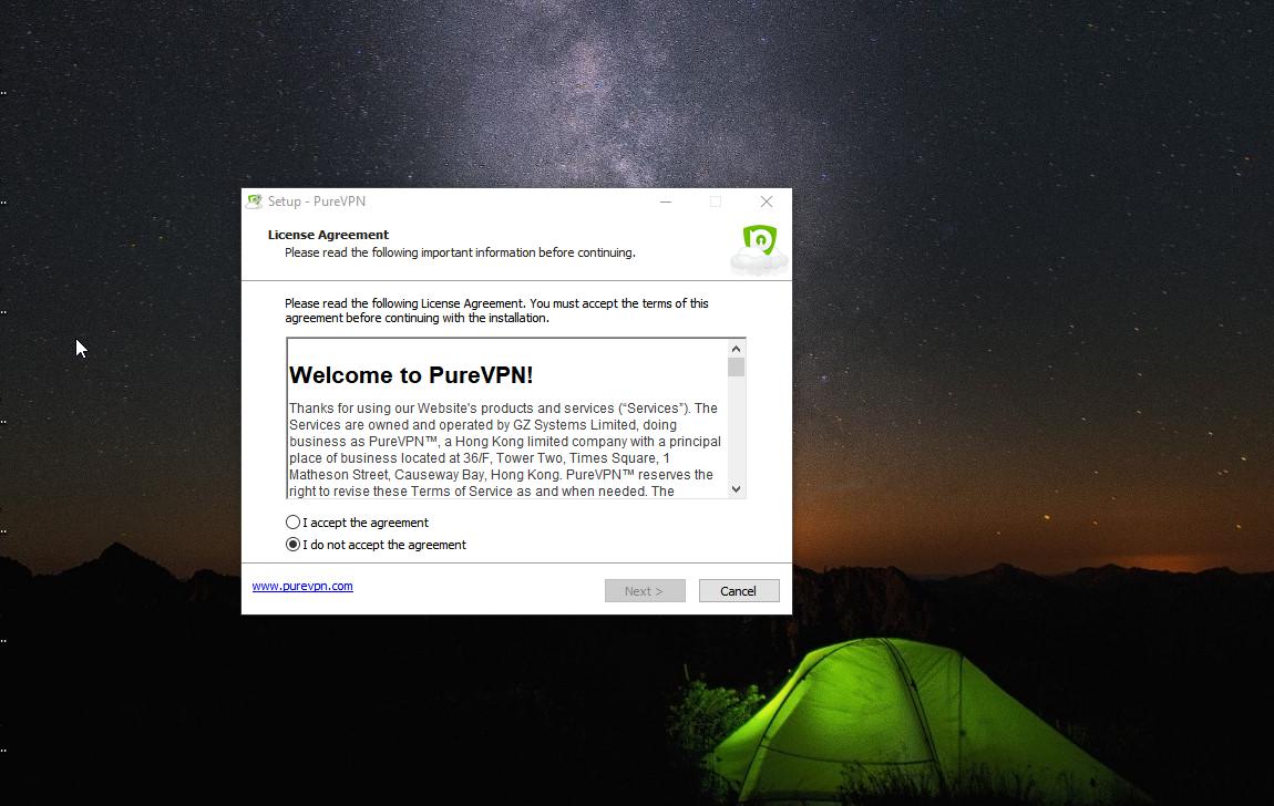 PureVPN Install 1