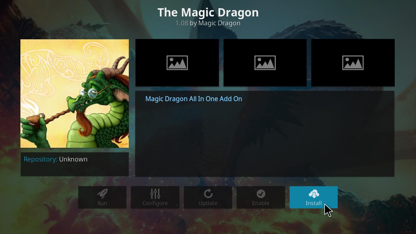 The Magic Dragon Kodi Addon - Install