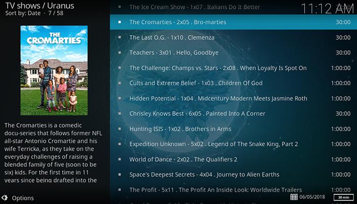 Uranus TV Catchup
