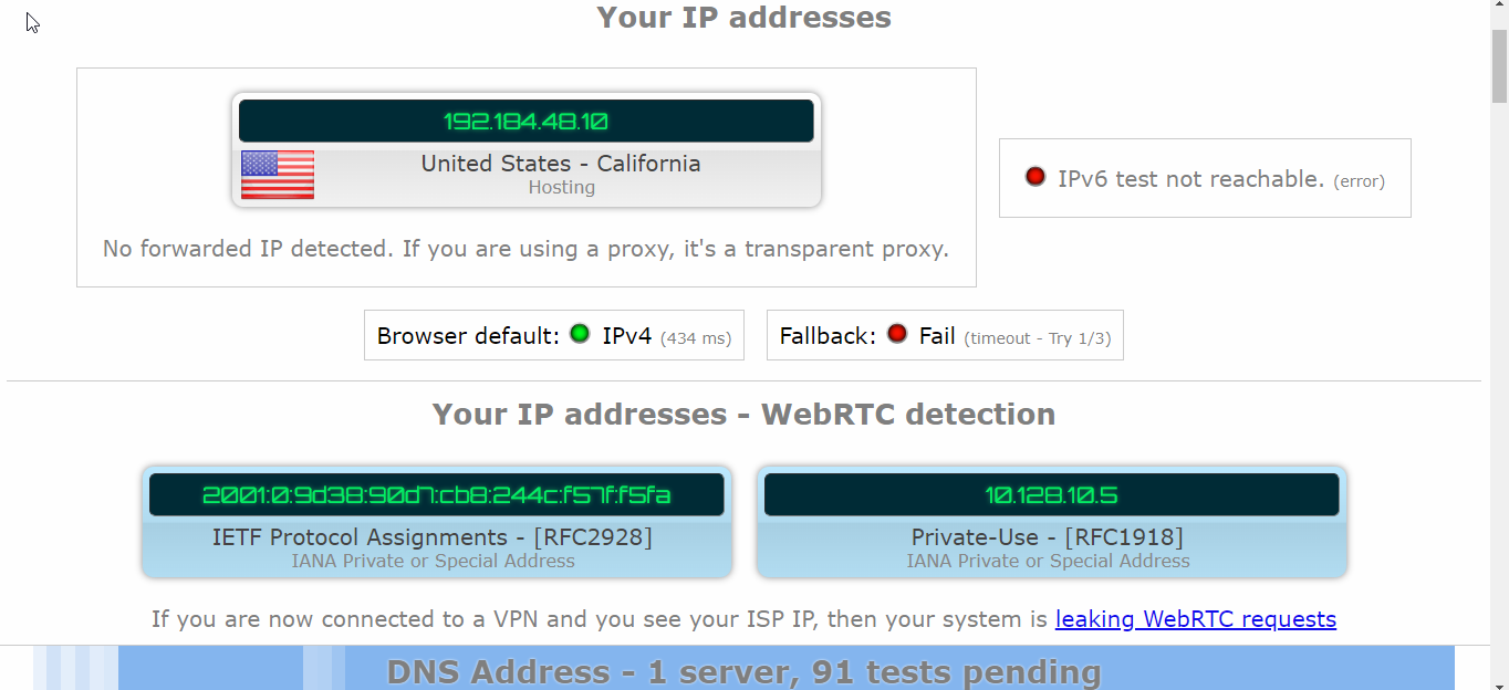 VPN Unlimited DNS Leak Test