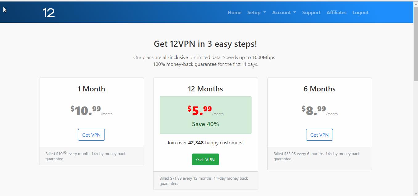 Mr. VPN's Review of 12VPN
