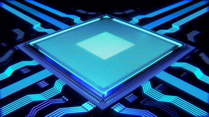 Computer Chip Render