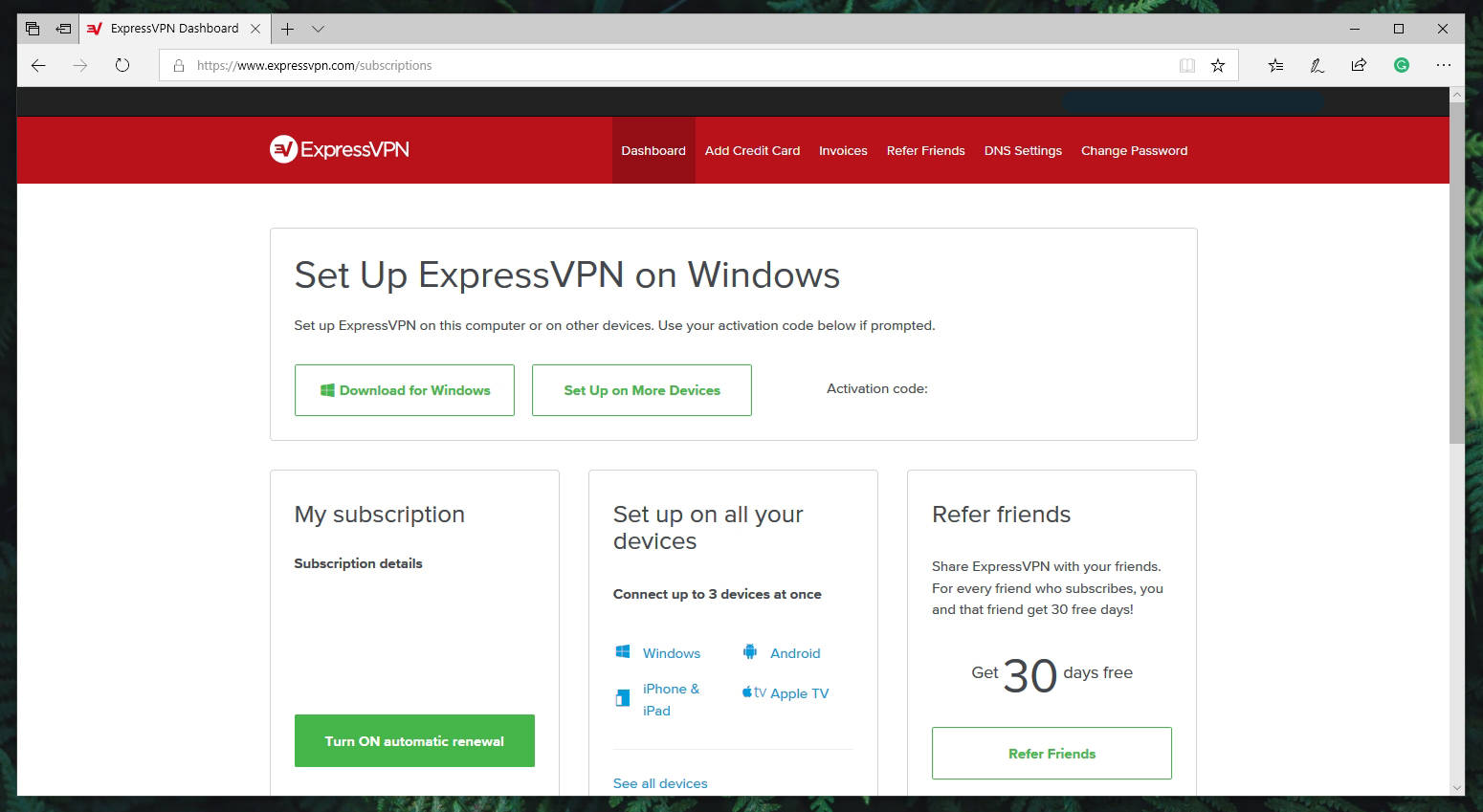 ExpressVPN Account Details