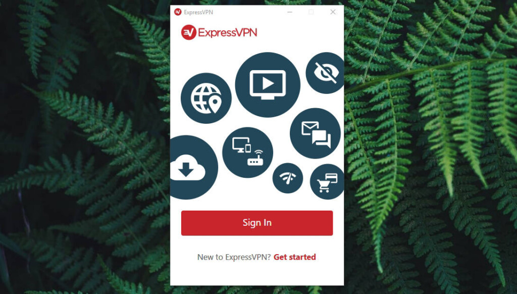 ExpressVPN Welcome Screen
