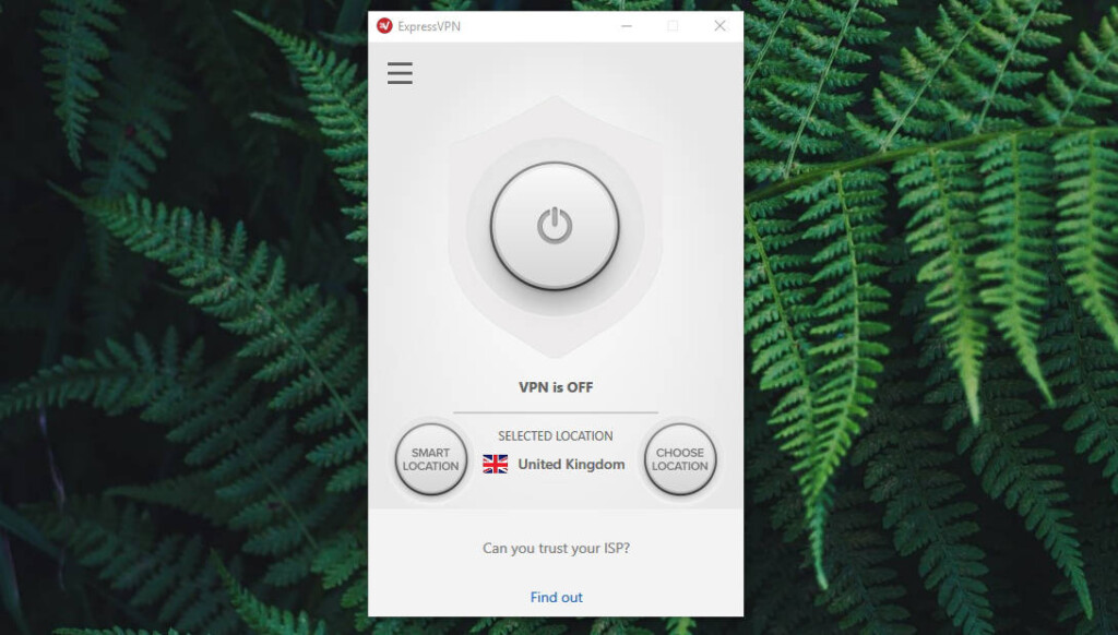ExpressVPN Windows UI