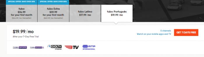 Fubo Channels Portugues