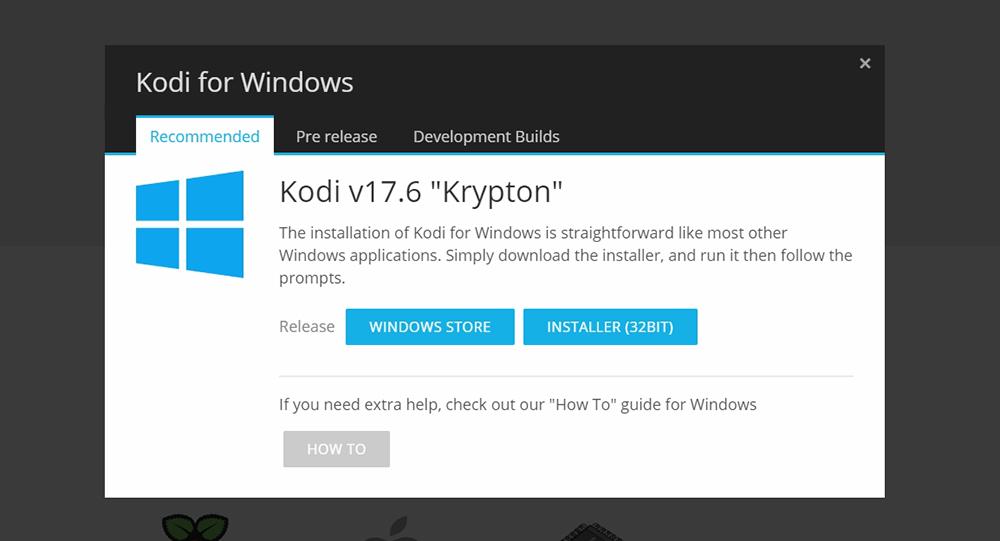 Kodi Krypton Windows