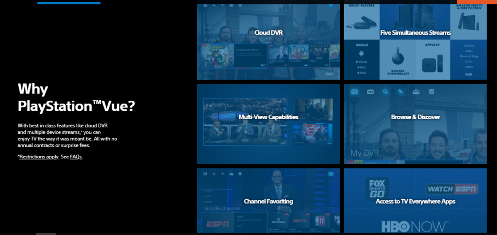 PS Vue features