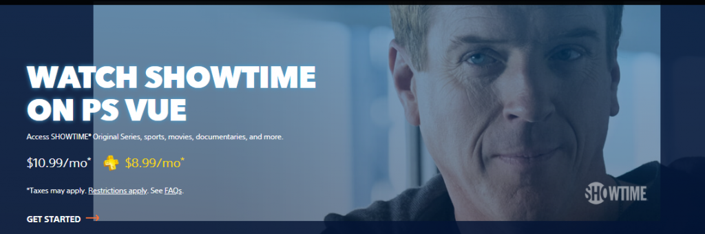 PS vue Showtime