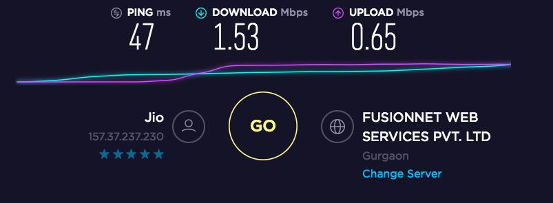 SaferVPN Speed Test Baseline