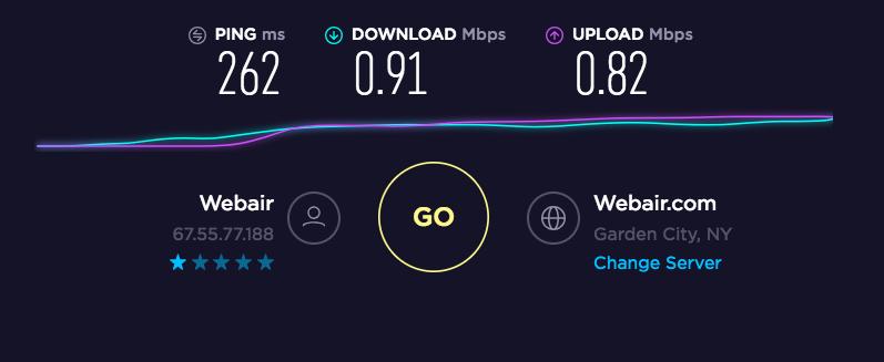 SaferVPN Speed Test US Streaming Server