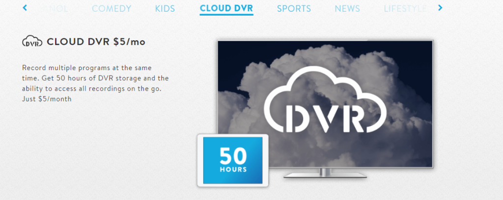 Sling TV DVR Cloud