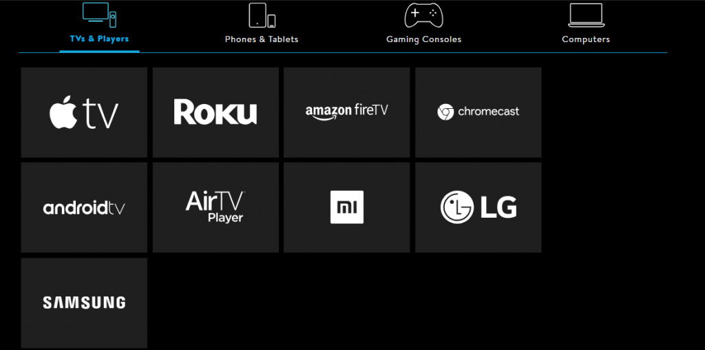 Sling TV Devices TVs and Players