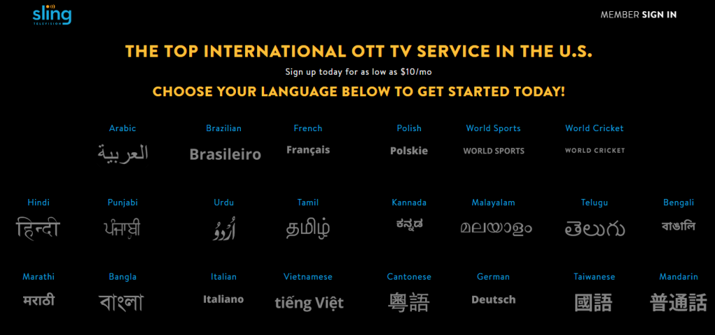 Sling TV International