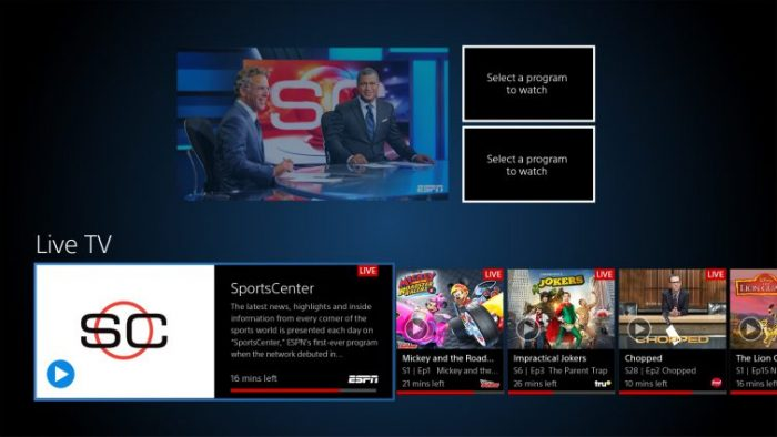 PlayStation Vue Multi-channel