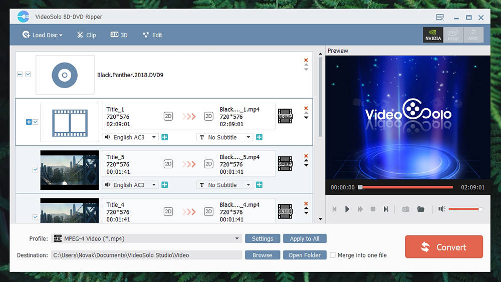 VideoSolo BD-DVD Ripper - Ease of Use