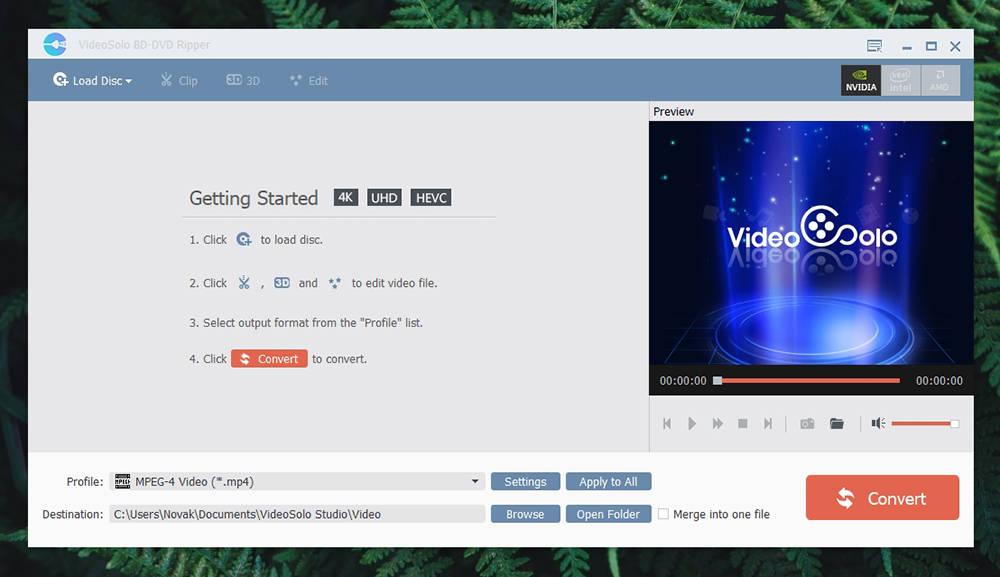 VideoSolo BD-DVD Ripper UI