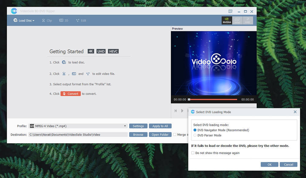 VideoSolo BD-DVD Ripper - User Interface