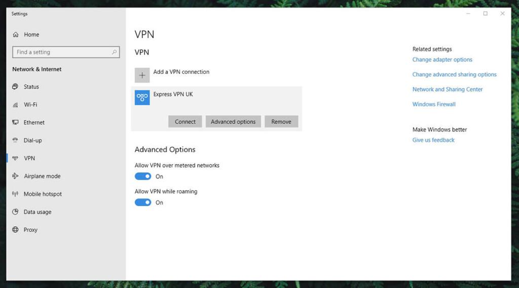 Windows VPN Options