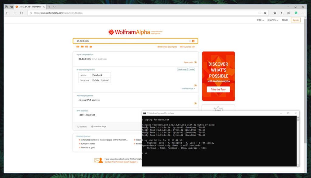 Wolfram Alpha IP Tracking