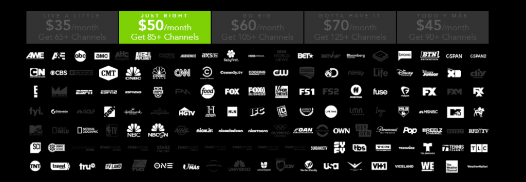 DirecTV Now Just Right