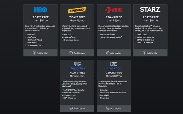 DirecTV Now Premium