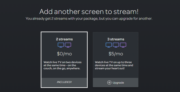 DirecTV Now Simultaneous streaming