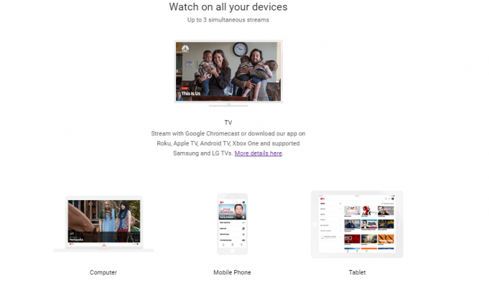 YouTube TV devices
