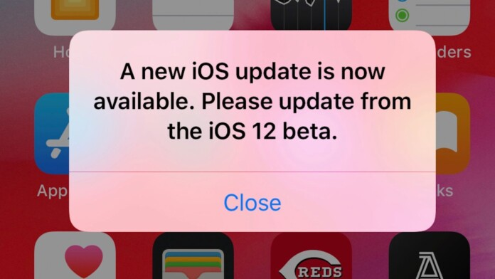 Apple iOS 12 Beta Contains Annoying Update Notification Bug