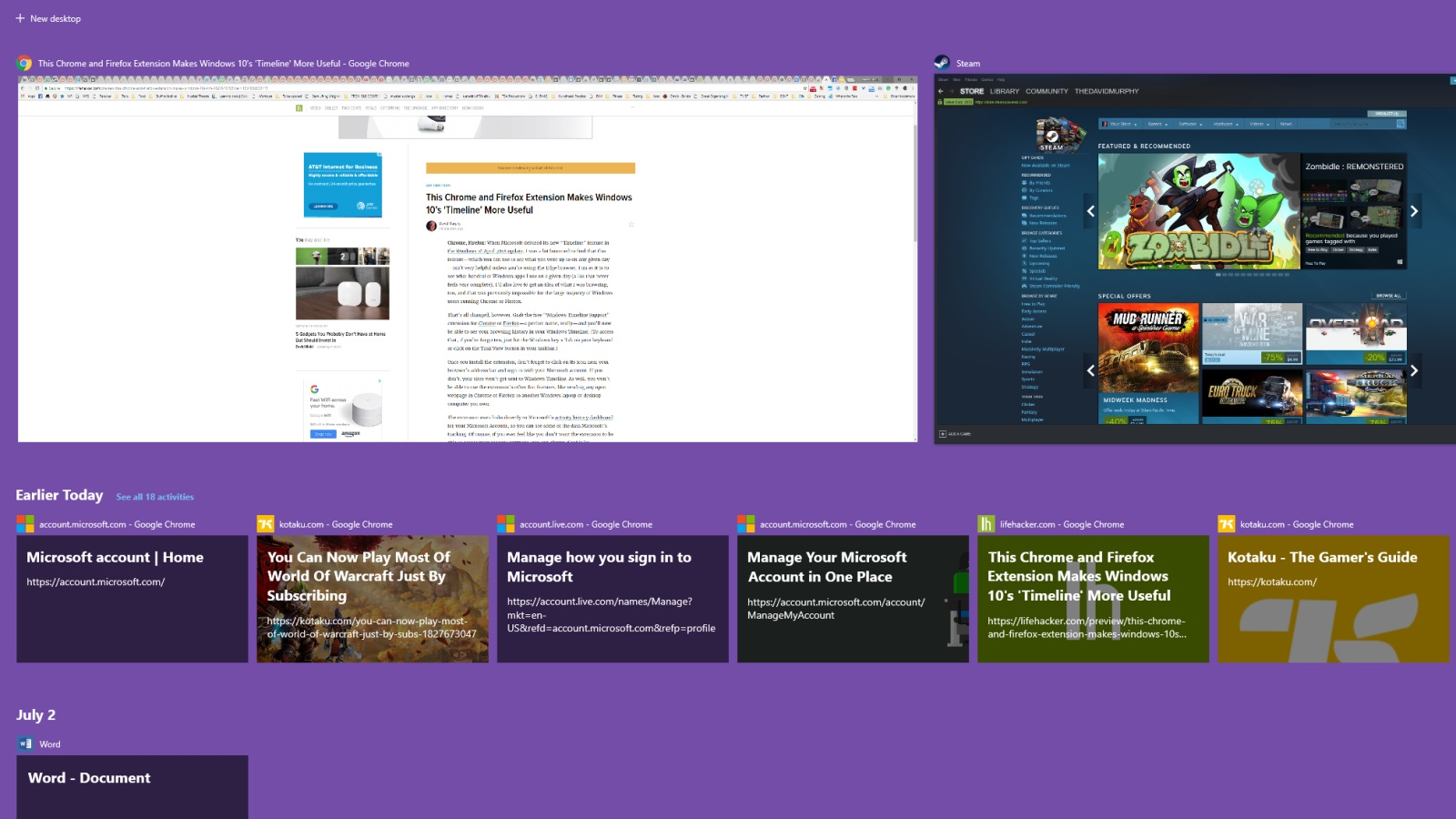 Chrome Timeline Extension Removed from Web Store over