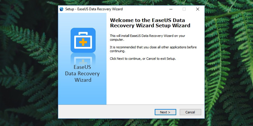 EaseUS Data Recovery Installation