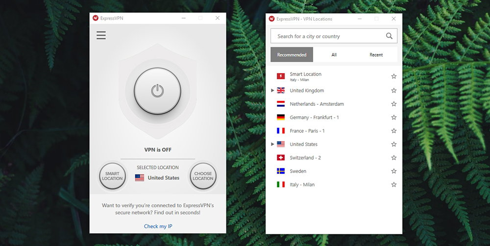 ExpressVPN Server Selection