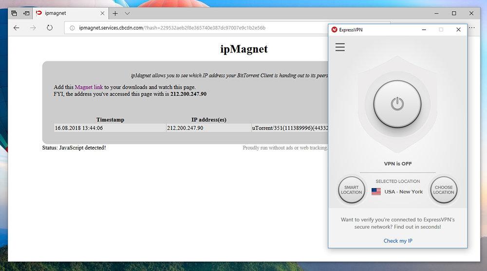 ExpressVPN Startup Screen