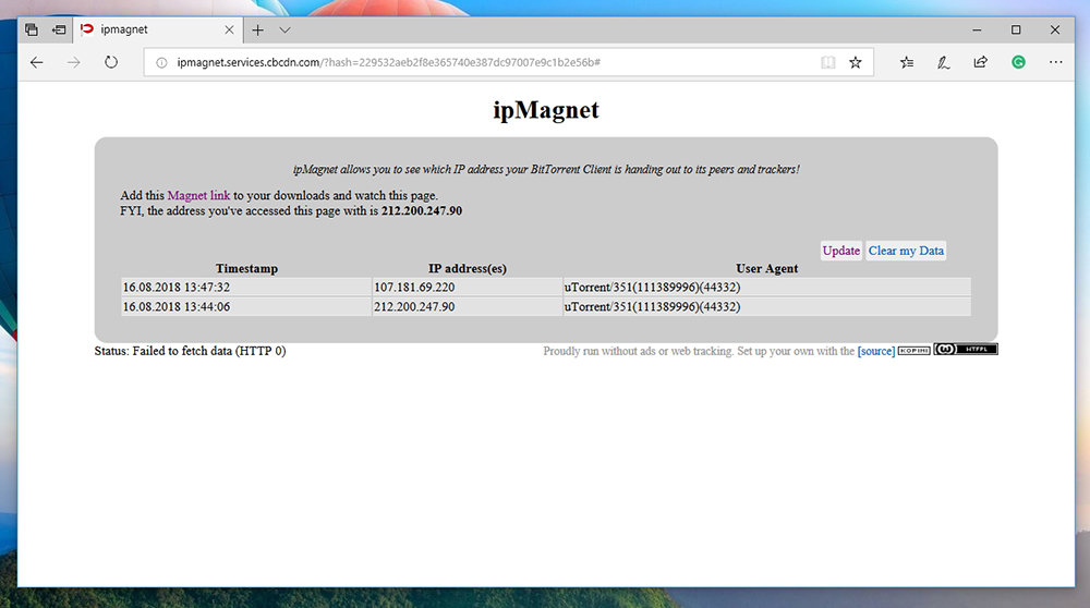 IPMagnet IP Address Changed