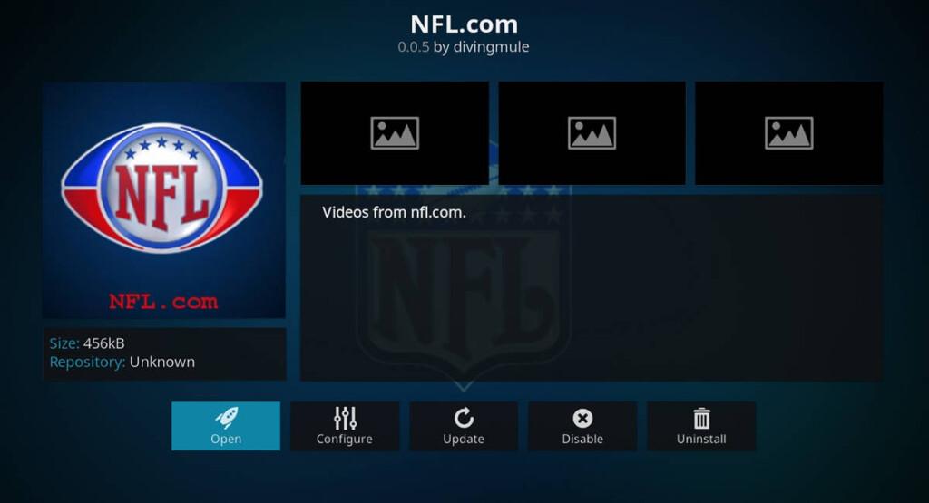NFLcom For Kodi