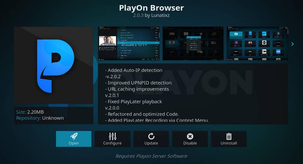 PlayOn Browser for Kodi