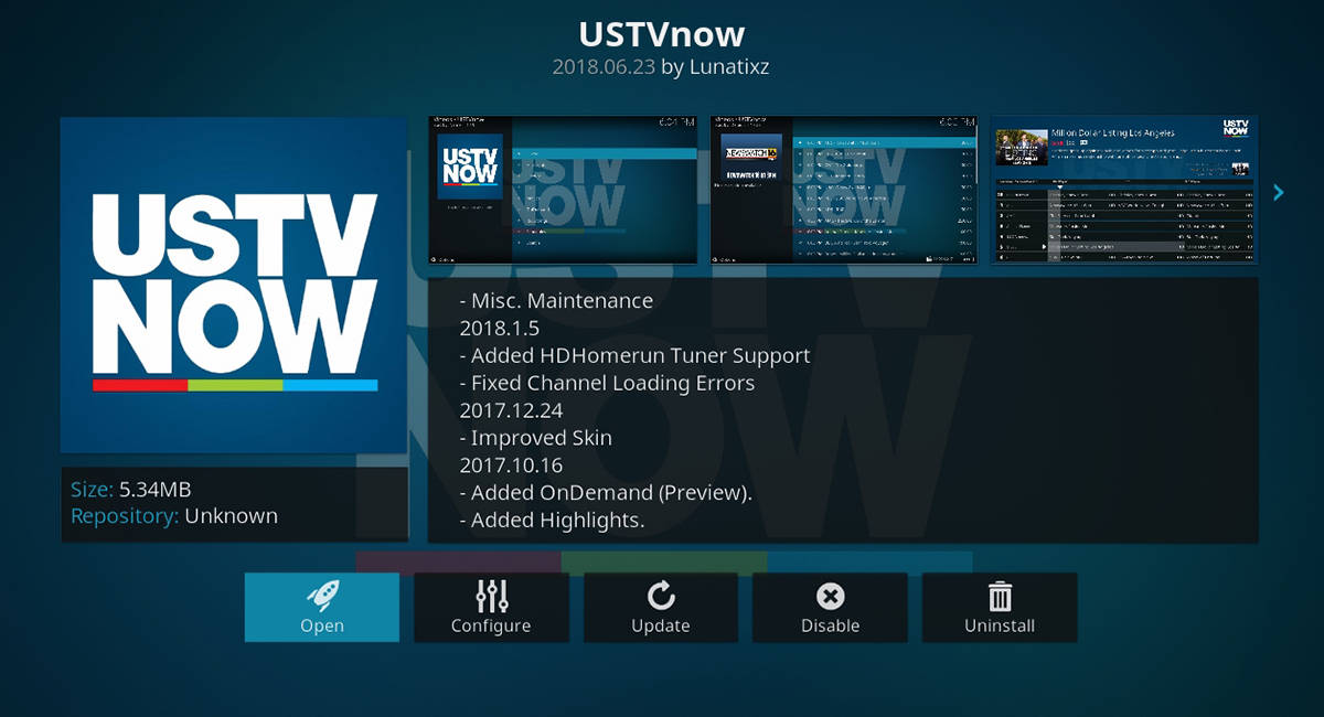 USTV Now For Kodi