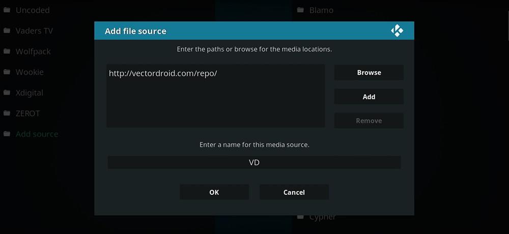 Vector Droid Repo URL