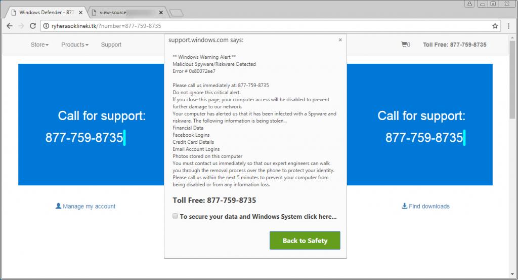 Tech Support Scam Affects Thousands of WordPress Websites