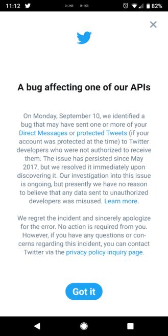 Twitter API Bug