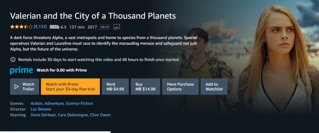 Amazon Prime Video content