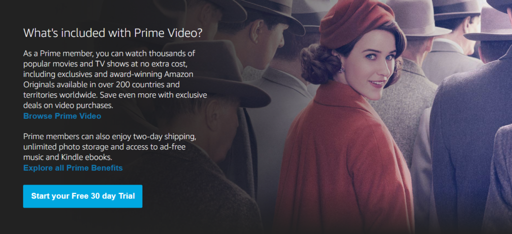 Amazon Prime Video trial