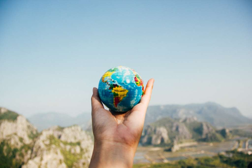 Earth Globe Hand