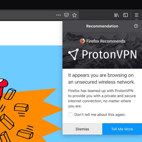 FIrefox ProtonVPN Partnership