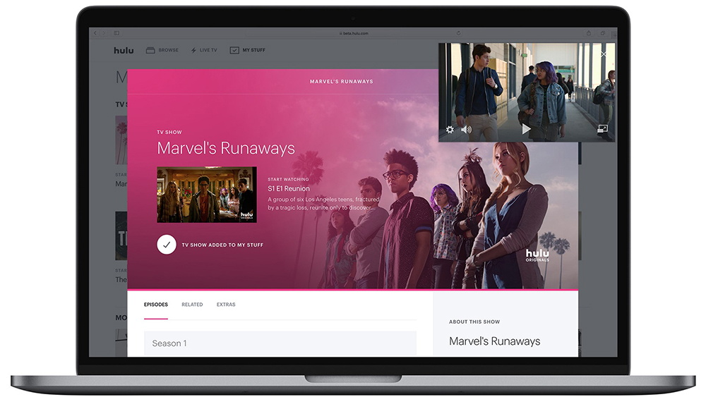 Hulu New Beta Interface