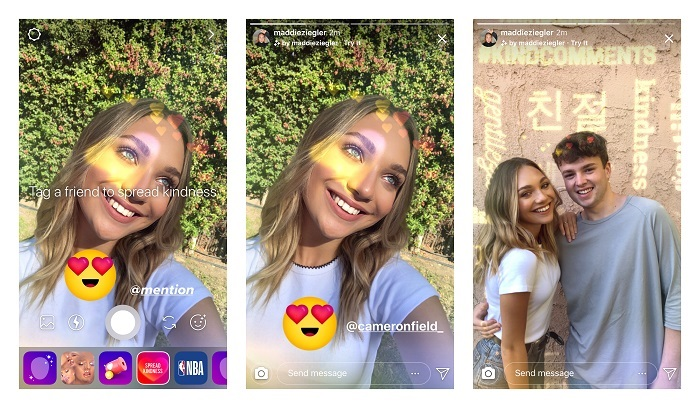 Instagram Kindness Camera Effect
