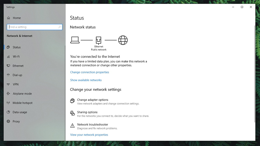 Network Connection Win 10