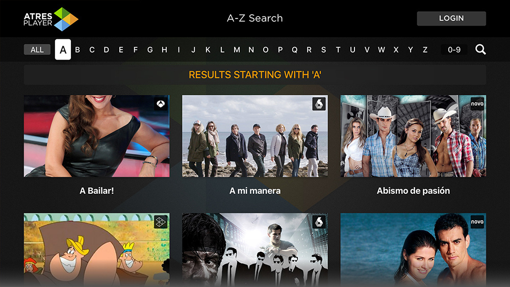 Atresplayer Apple TV App