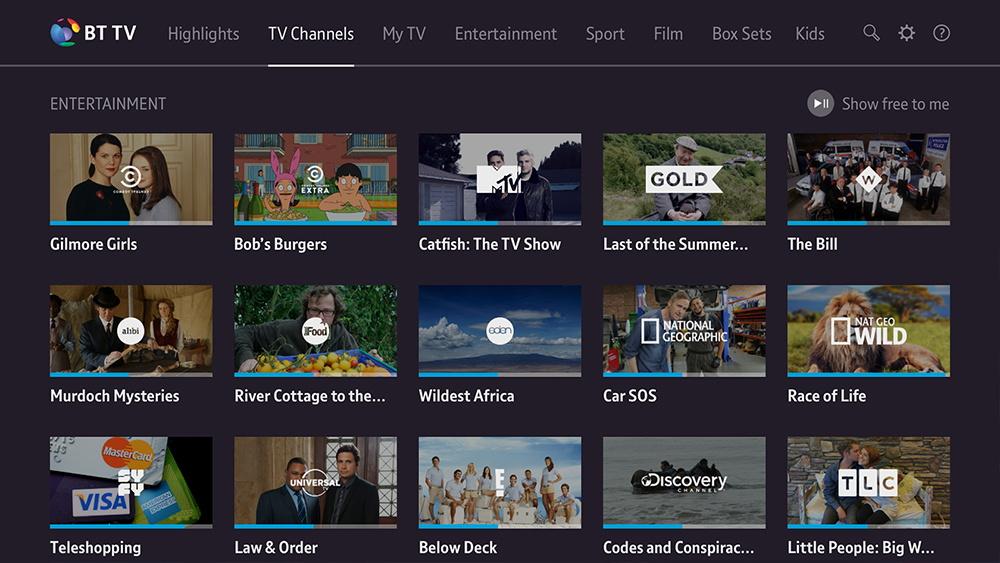 BT Sport Streaming App Interface